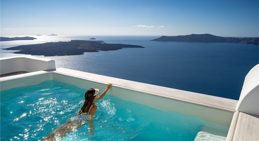 Hotel with private balcony pool