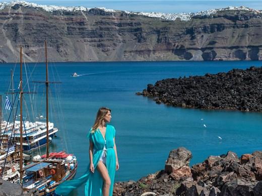 Santorini Volcano Boat Tour including Hot Springs & Therasia - Volcano Tours - Santorini View