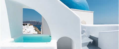 Two Bedroom Suite with Outdoor Plunge Pool and Caldera View