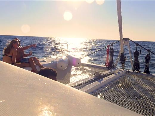 Small-Group Catamaran Cruise in Santorini with BBQ Lunch/Dinner and Drinks - Catamaran Cruises - Santorini View