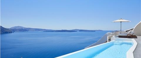 Villa (three bedroom) with Infinity Pool Caldera Sea View