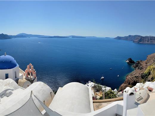 Full-Day Cultural Sightseeing Bus Tour of Santorini with photo-stop at Caldera and Sunset in Oia - Bus tours - Santorini View