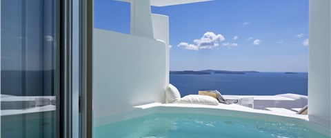 Honeymoon Suite Plunge Pool Caldera Sea View