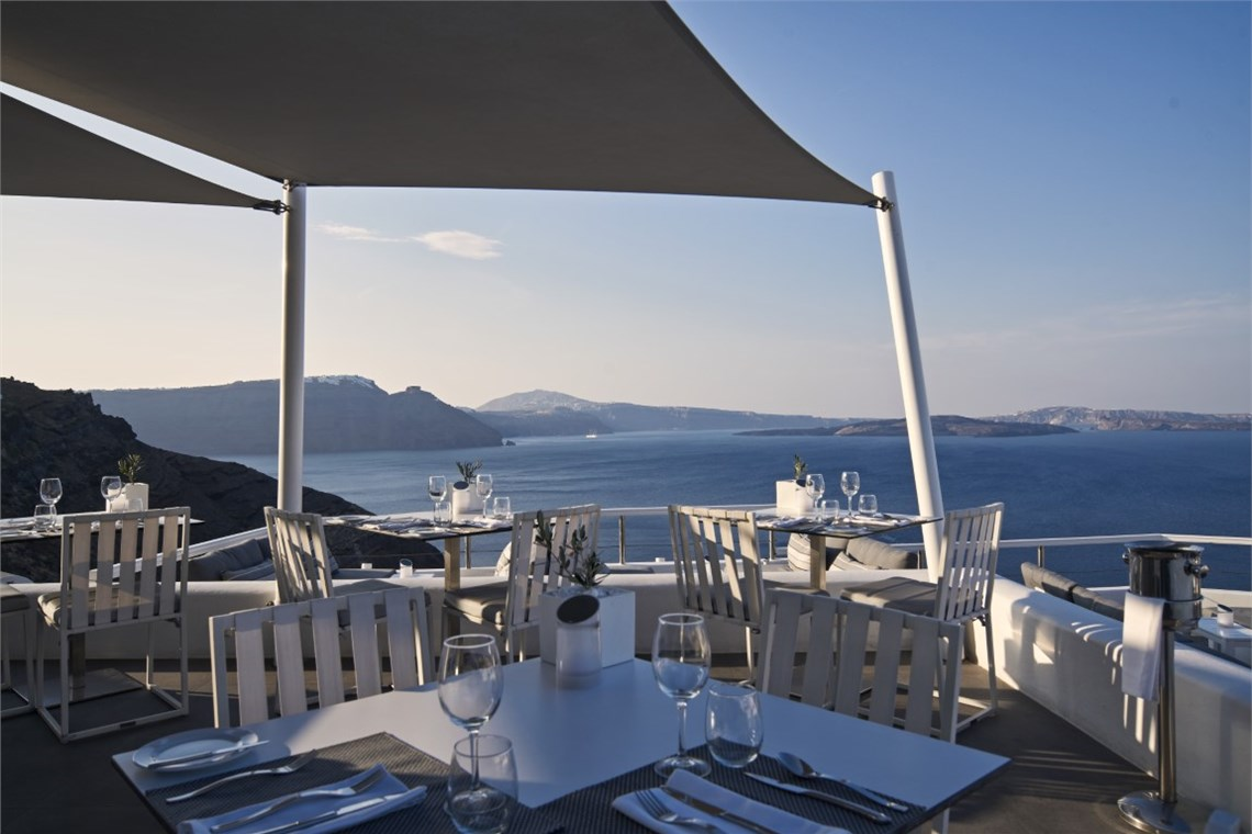 Restaurant of Canaves Oia Boutique Hotel