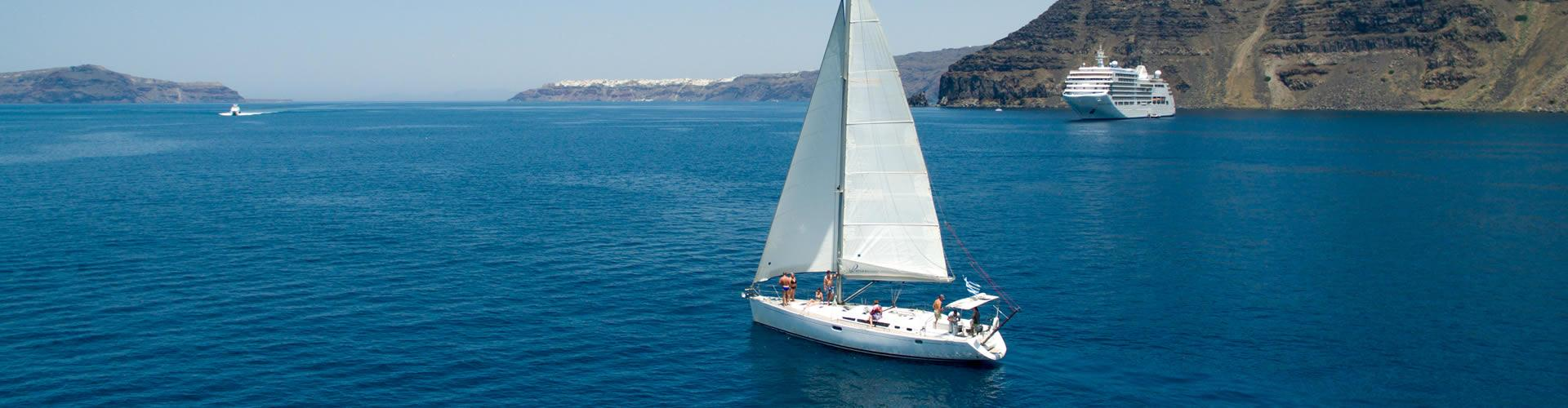 Photo of Sailing Cruise in Santorini with Seafood BBQ dinner/lunch on board and Drinks