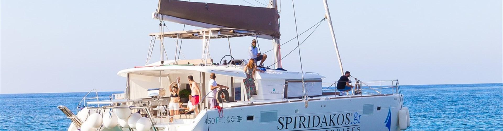 Photo of Catamaran Cruise in Santorini with Greek Food & Drinks