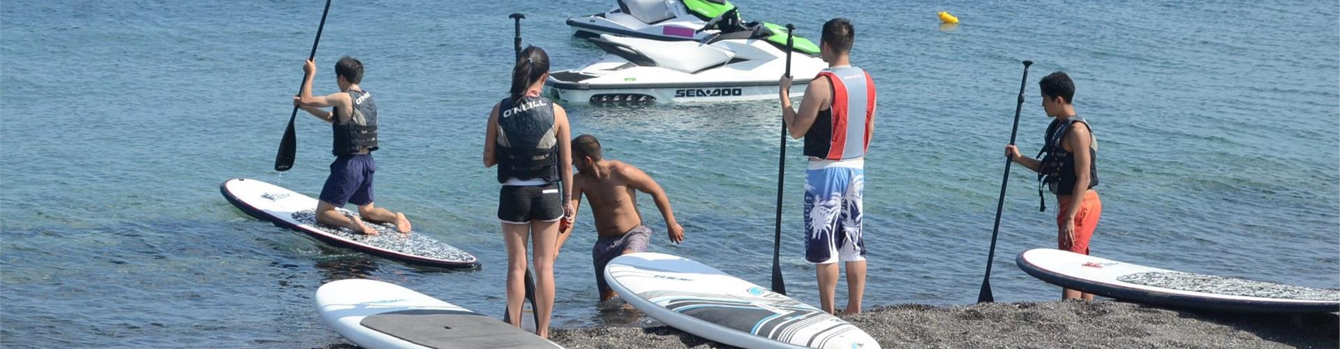 Photo of Stand-up Paddle Rental on Perivolos Beach in Santorini