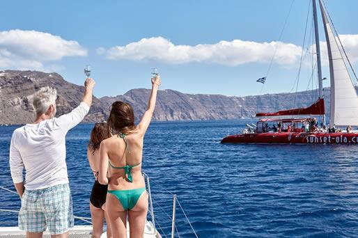 Catamaran Cruises in Santorini