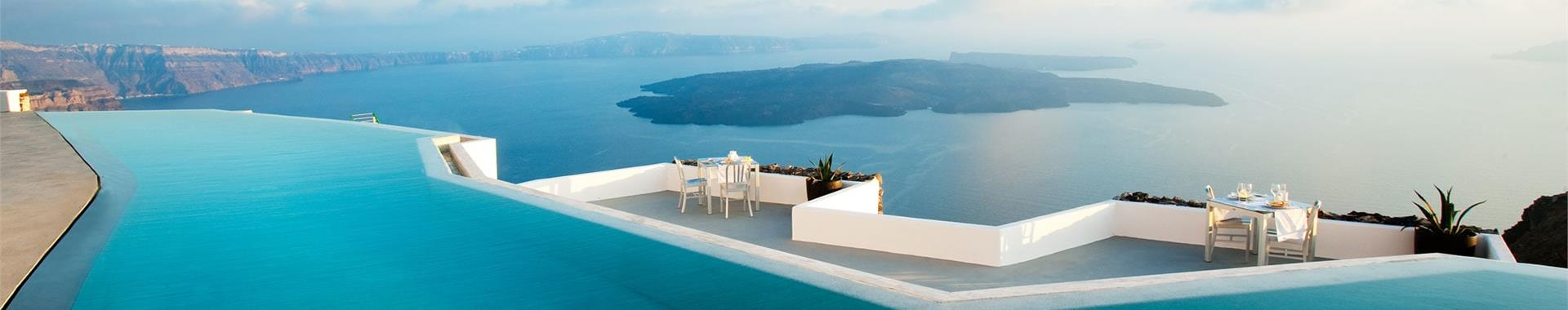 Fira or Megalochori Santorini Hotels on the Caldera