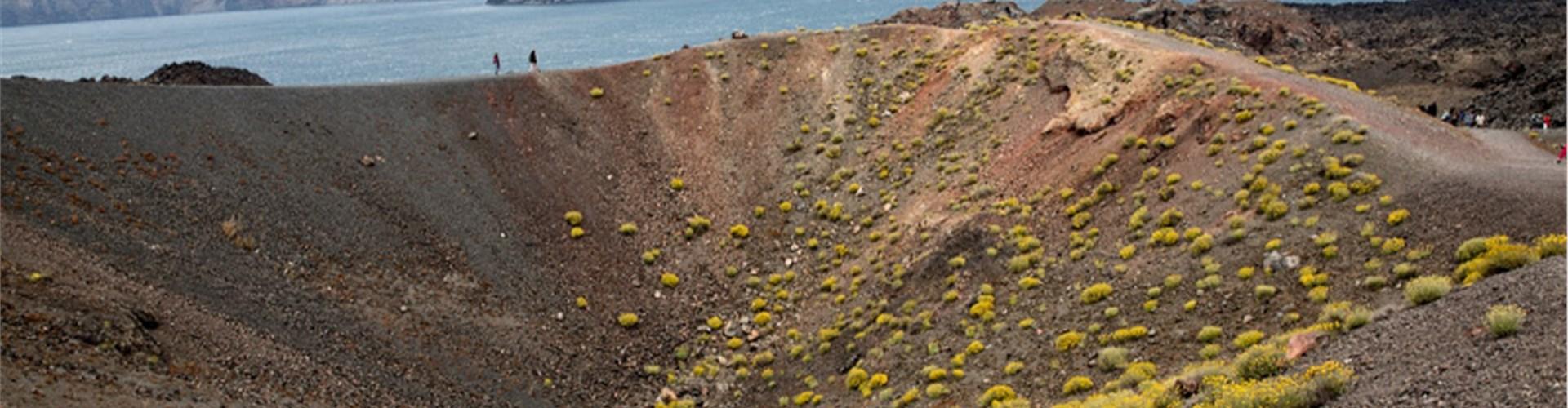 Hiking Santorini's Volcanic Crater