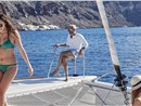 Photo of Luxurious Catamaran Cruise in Santorini with BBQ and Drinks