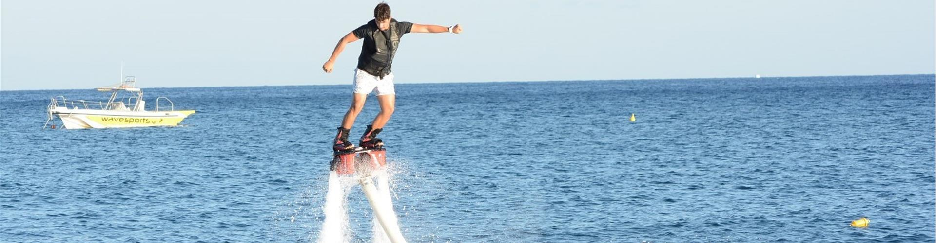 Photo of A Mind-blowing Flyboard Session on the Black Beach in Santorini
