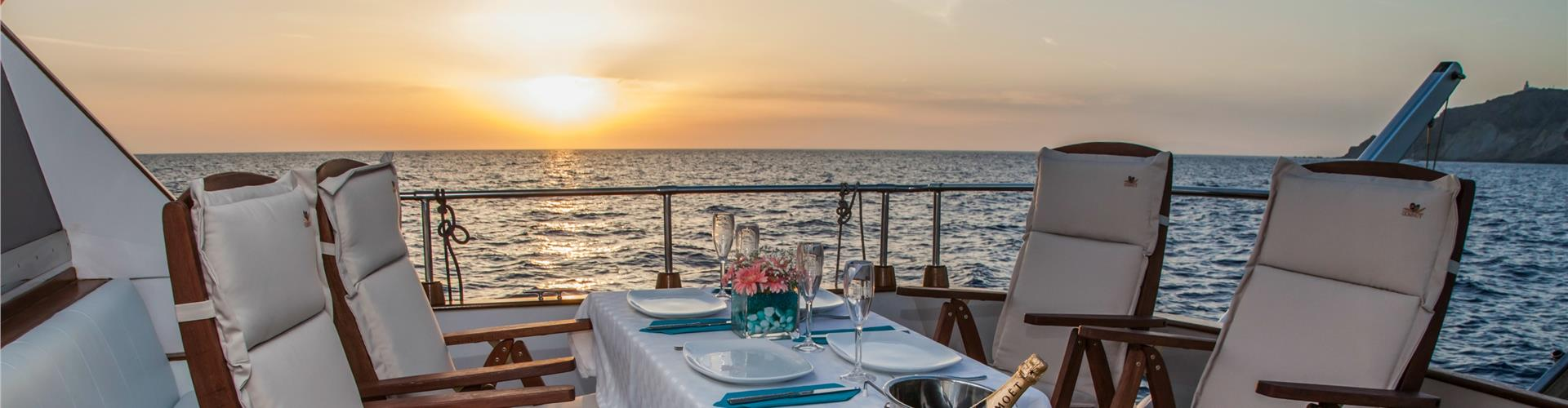 Photo of Luxury Motor Yacht Cruise with Gourmet 5-Course Lunch or Dinner
