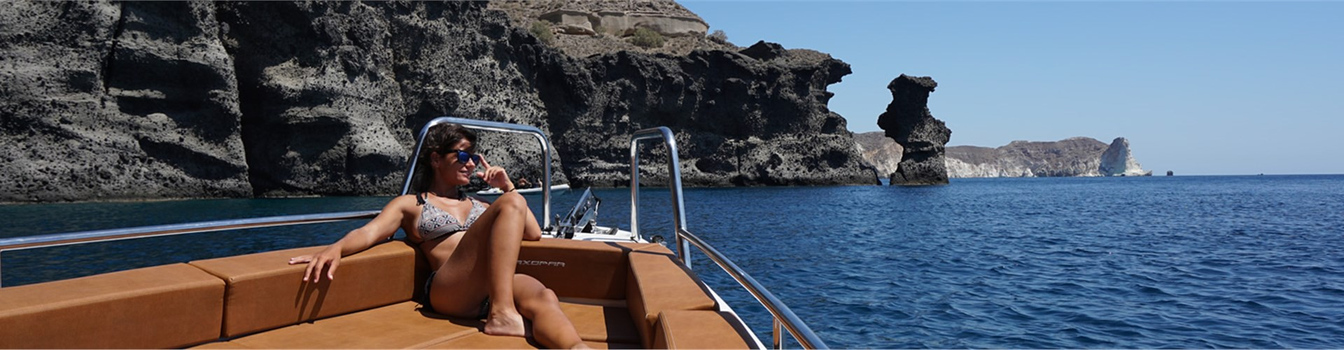 Photo of Private Motor Boat Cruise with Meal on Therasia