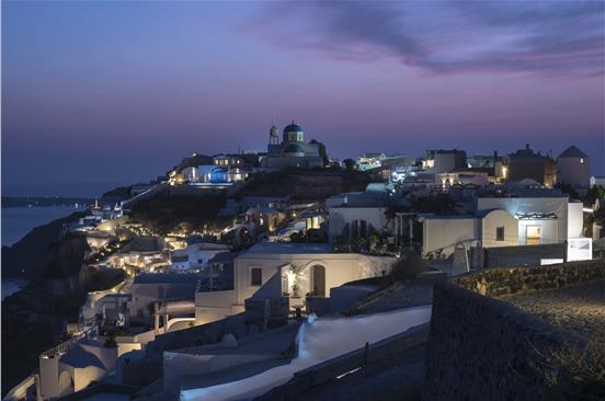 Photo of Santorini Night Hike with Greek Dinner & Wine Tasting