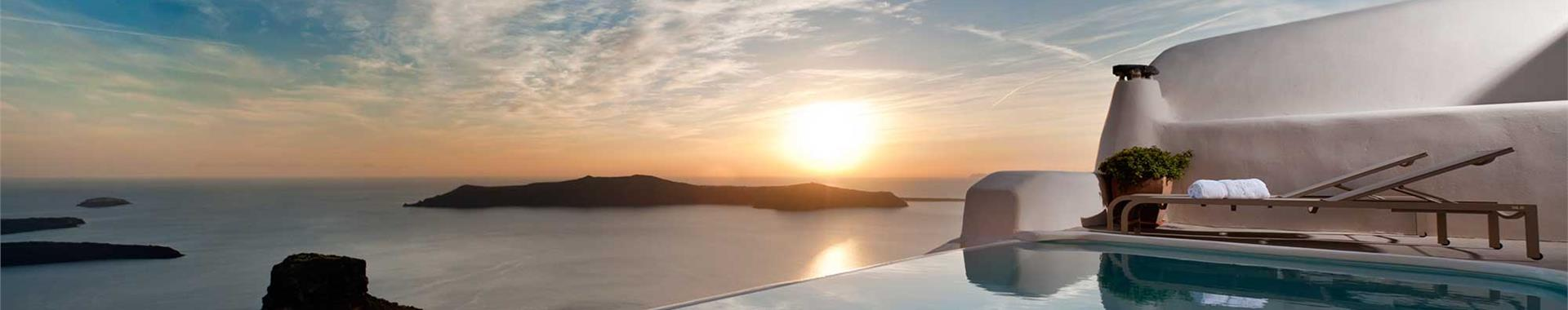 Fira or Karterados Santorini Honeymoon Hotels