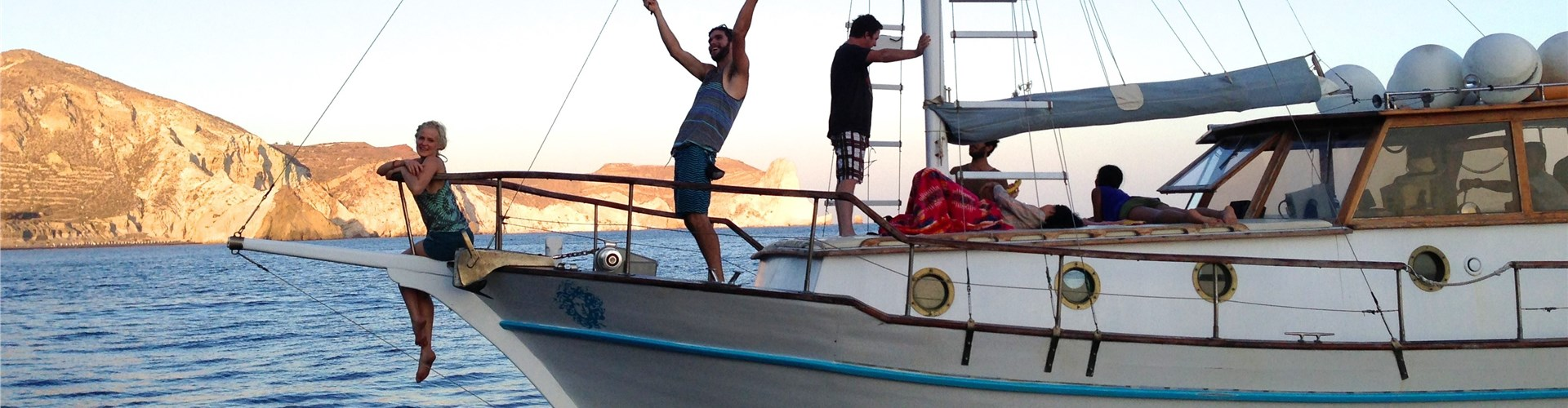 Photo of Caldera Traditional Cruise in Santorini with meal and drinks
