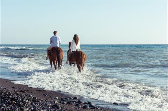 Photo of Romantic Horse riding to Eros beach