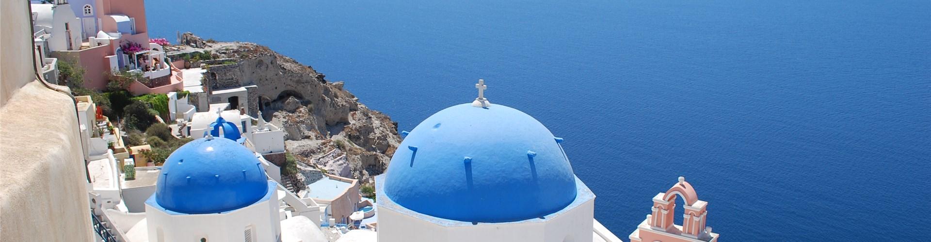 Santorini island in the Aegean sea